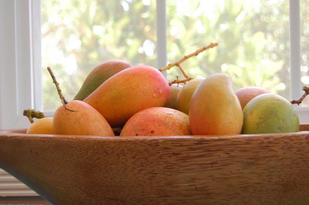 Mango in a platter