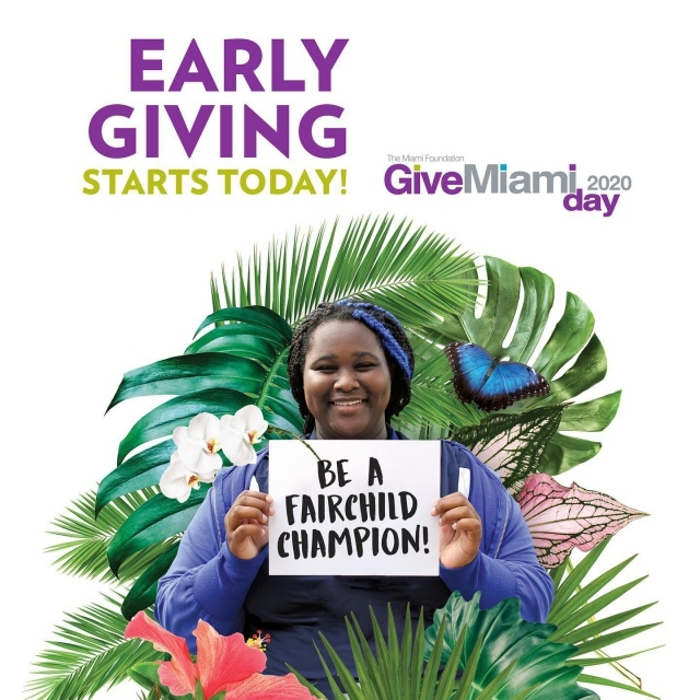 It's a Match!  Did you know that if you donate to Fairchild through Give Miami Day, your gift doubles?! Your donation will be matched dollar-for-dollar. Give today and be our Fairchild Champion! Link in bio 😊  . #givemiamiday #fairchildtropicalbotanicgarden