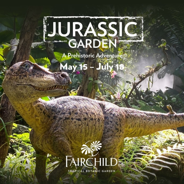 Something BIG is coming!!! 🦖 Beginning this Saturday, May 15 through July 18, discover a lost world and what remains with life-size dinosaurs surrounded by our major collection of cycads and other prehistoric plants!  Tours, kids activities, concerts, and even a dino costume dog parade...we've got some great activities planned! 💚 . Join in on the fun!!! Link in bio to learn more and purchase tickets!